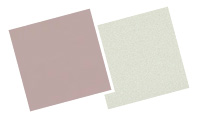 Muted pastel blinds swatches