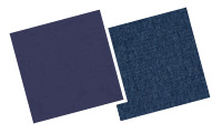 Warming blue blinds swatches