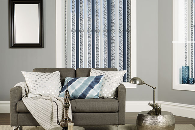 Striped cushion and blinds