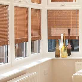 Image of Faux Wood Venetian Blinds