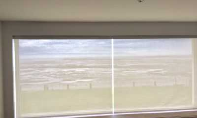 Image of Roller Blinds with sea view